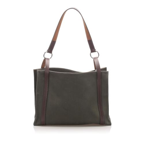 Hermes Canvas Cabalicol Tote