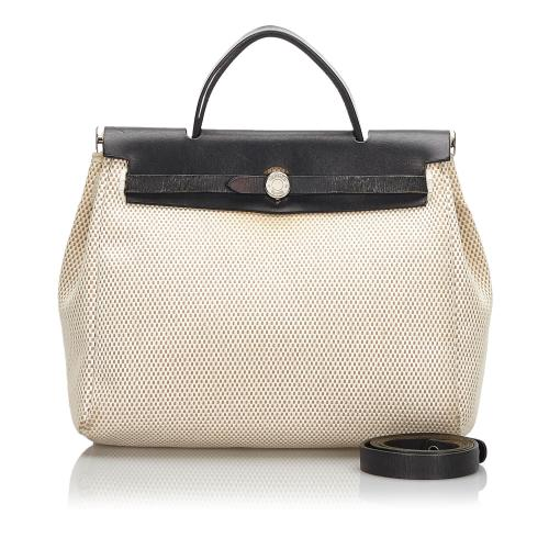 Hermes Canvas Herbag PM Satchel