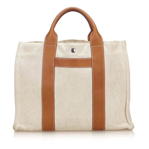 Hermes Canvas Sac Harnais MM Tote
