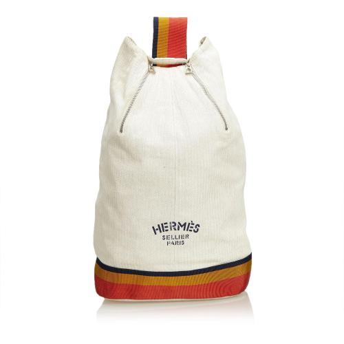 Hermes Cavalier Cotton Sling Backpack