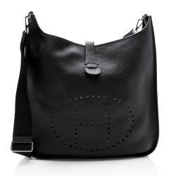 Hermes Clemence Leather Evelyne III TGM Shoulder Bag