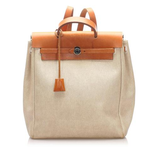 Hermes Canvas Herbag Backpack