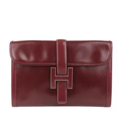 Hermes Leather Jige PM Clutch