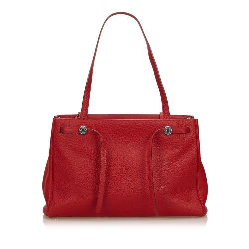 Hermes Leather Herbag Cabas Shoulder Bag