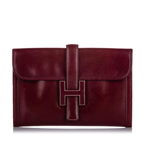Hermes Leather Jige PM Clutch