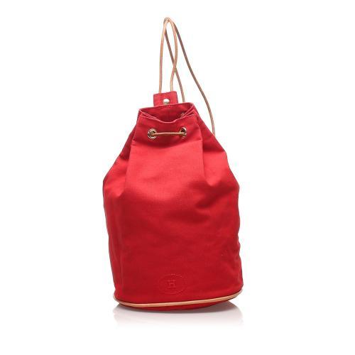Hermes Polochon Mimile Canvas Backpack