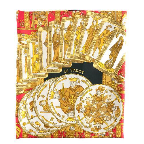 Hermes Silk Le Tarot 90cm Scarf