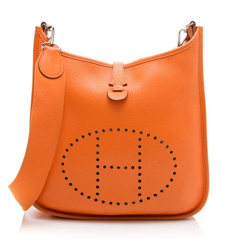 Hermes Taurillion Clemence Evelyne II PM Shoulder Bag
