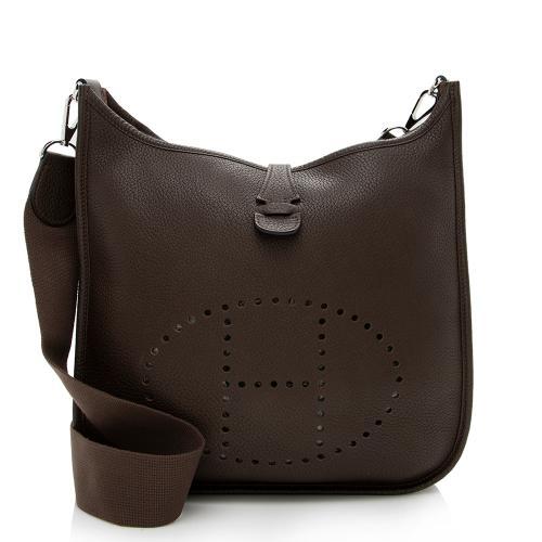 Hermes Taurillion Clemence Evelyne II PM Shoulder Bag