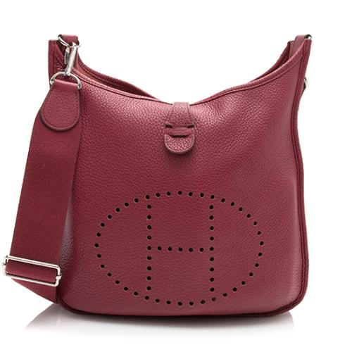 Hermes Taurillon Clemence Evelyne III PM Shoulder Bag