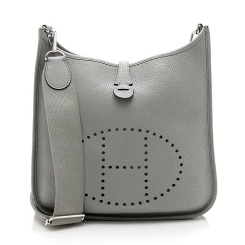 Hermes Taurillon Clemence Evelyne III PM Shoulder Bag