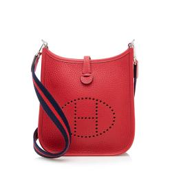 Hermes Taurillon Clemence Evelyne TPM Shoulder Bag