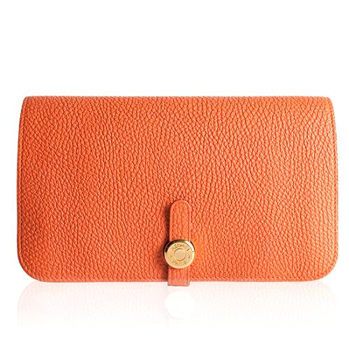 Hermes Togo Leather Dogon Wallet