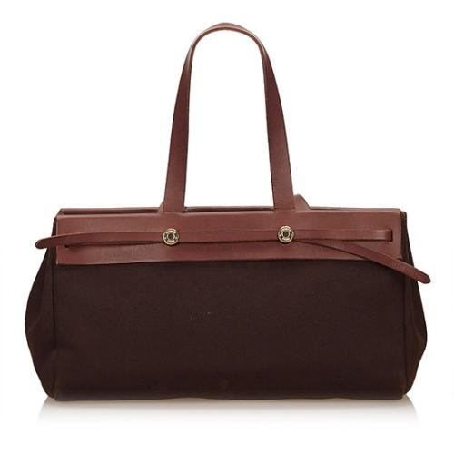 Hermes Toile Cabas Herbag Convertible Tote - FINAL SALE