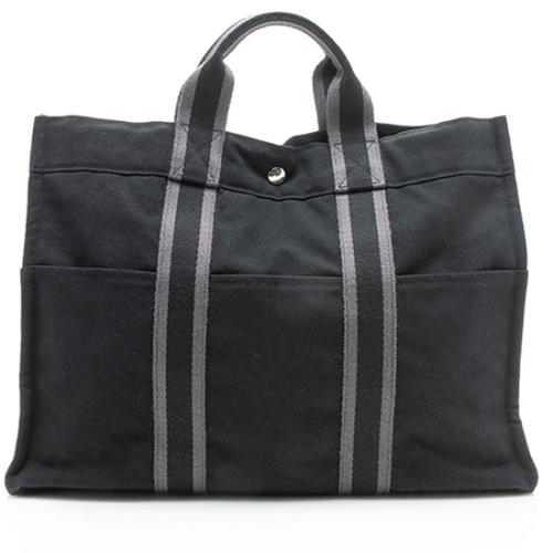 Hermes Toile Fourre Tout MM Tote