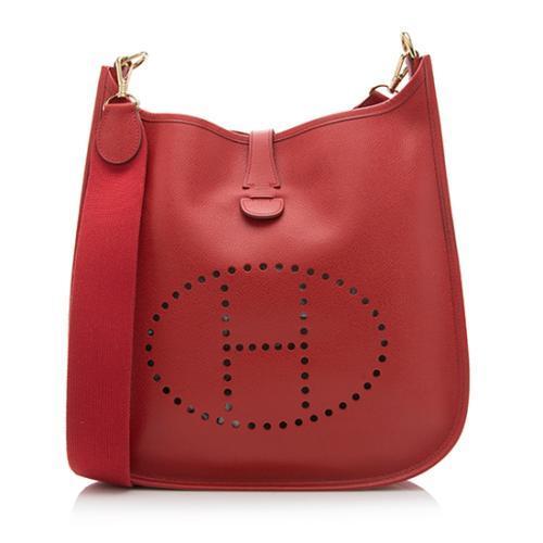 Hermes Vintage Epsom Evelyne GM I Shoulder Bag