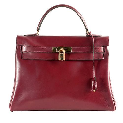 Hermes Vintage Rouge H Retourne Kelly 32 Satchel handbag