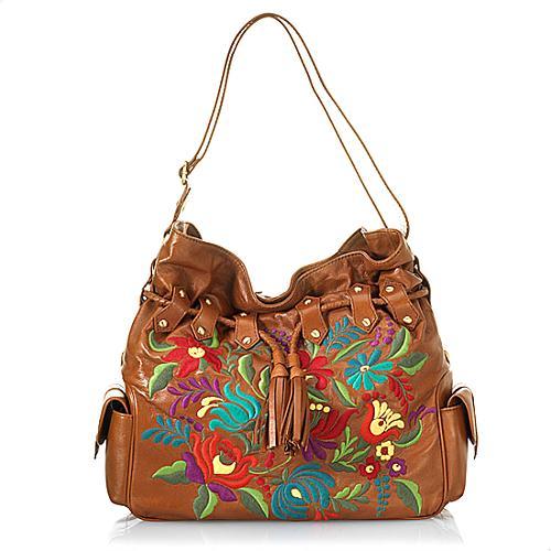 Isabella Fiore Blossom Hobo Handbag