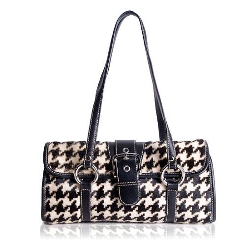 Isabella Fiore Calf Hair Satchel Handbag