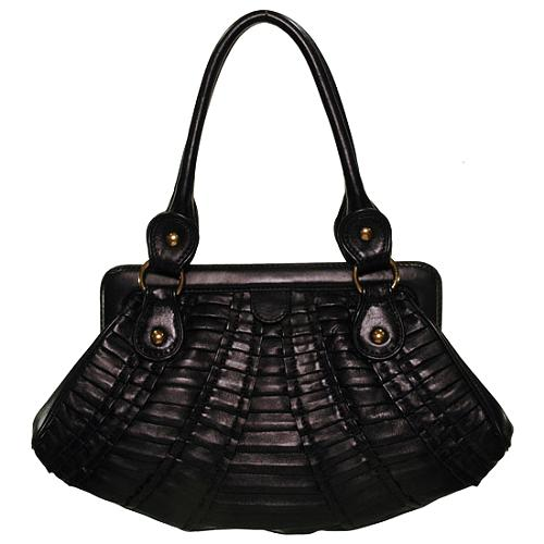 Isabella Fiore Complete with Pleats Claudette Frame Handbag