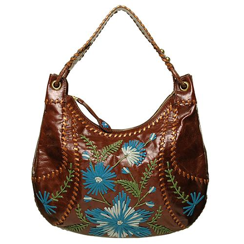 Isabella Fiore Embroidered Floral Angelina Handbag