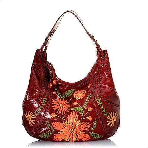 Isabella Fiore Flower Patch Hobo Handbag