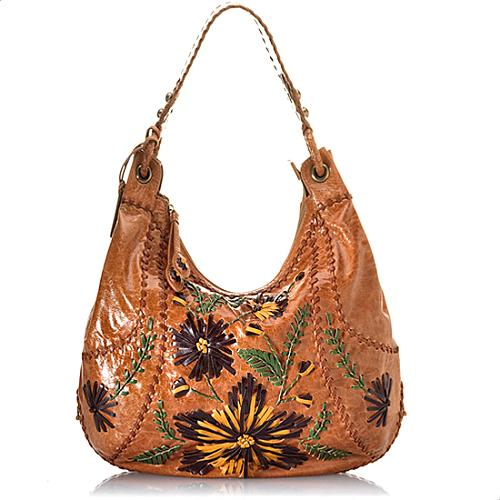 Isabella Fiore Flower Patch Hobo Handbag