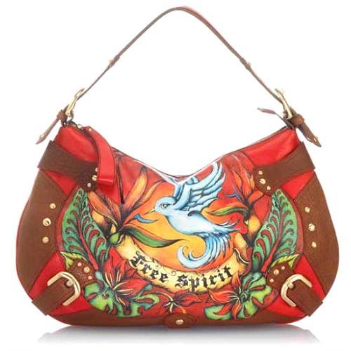 Isabella Fiore Free Spirit Audra Hobo Handbag