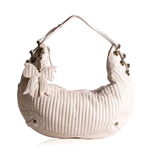 Isabella Fiore Lil Bow Monique Leather Shoulder Handbag