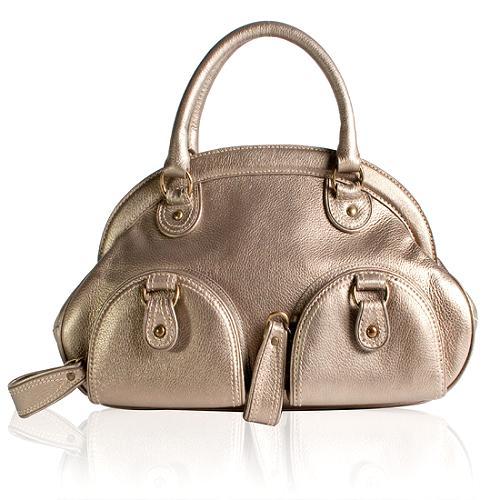 Isabella Fiore Metallic Brooke Satchel Handbag