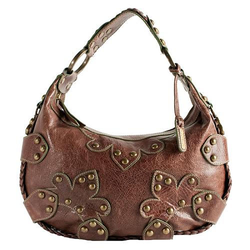 c3a6516f63 Isabella Fiore. 'Oasis' Studded Leather Hobo Handbag
