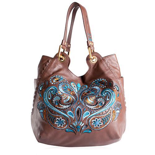 Isabella Fiore Paisley Embrodered Hobo Handbag