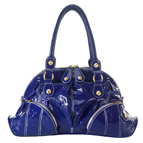 Isabella Fiore Patent Satchel Handbag