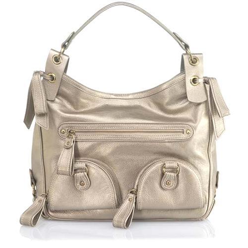 Isabella Fiore Pretty Pewter Skylar Hobo Handbag
