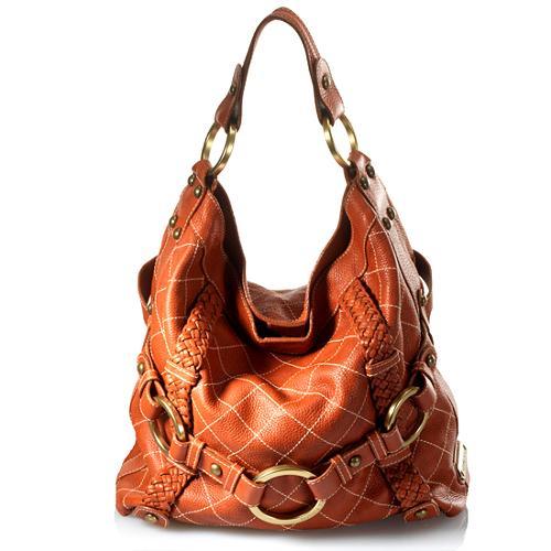 Isabella Fiore Quilted Carina Large Hobo Handbag