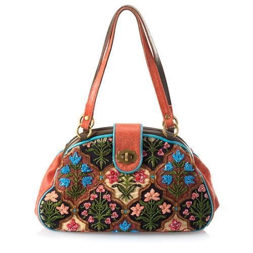Isabella Fiore Renaissance Lisa Framed Satchel Handbag