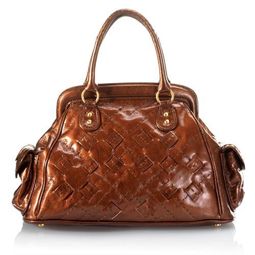 Isabella Fiore Rich Stitch Celine Satchel Handbag