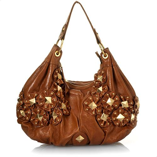 Isabella Fiore Star Studded Angie Hobo Handbag