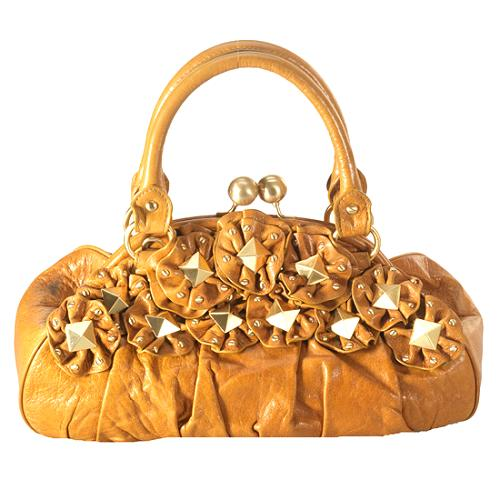 Isabella Fiore Star Studded Lily Frame Satchel Handbag