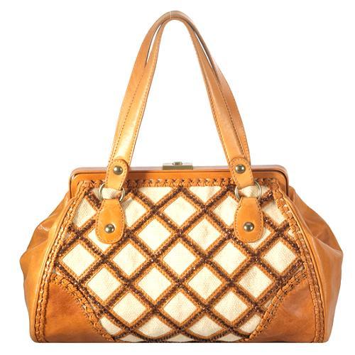 Isabella Fiore Starry Safari Wanda Frame Satchel Handbag