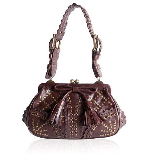 Isabella Fiore Stud Muffin Lolly Frame Shoulder Handbag