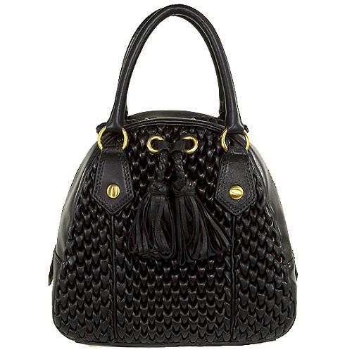 Isabella Fiore Tucks Deluxe Lesley Bowler Handbag