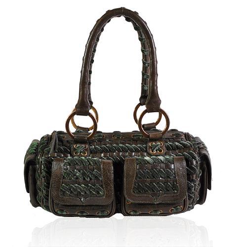 Isabella Fiore Velveteen Dream Cory Satchel Handbag