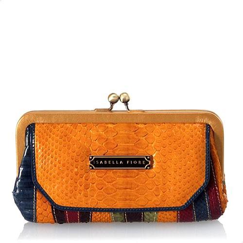 Isabella Fiore Watermark E/W Kisslock Frame Wallet - FINAL SALE