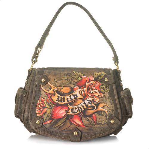 "Isabella Fiore ""Wild Child"" Celeste Messenger Handbag"