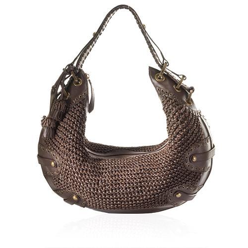 Isabella Fiore Woven Glory Monique Hobo Handbag
