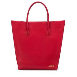 Jacquemus Leather Le Baya Shopping Tote