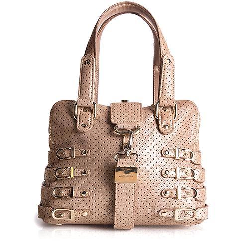 Jimmy Choo Blythe Leather Medium Satchel Handbag