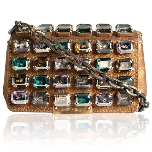 Jimmy Choo Cecile Crystal Clutch Handbag