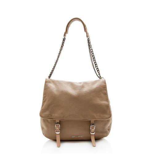 Jimmy Choo Leather Becka Chain Messenger Bag
